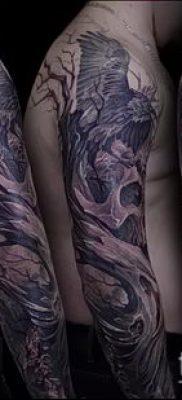 ворон на черепе тату (значение) – пример интересного рисунка тату – 016 tatufoto.com
