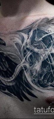 ворон на черепе тату (значение) – пример интересного рисунка тату – 021 tatufoto.com