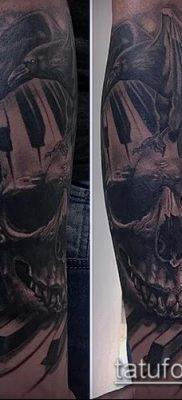 ворон на черепе тату (значение) – пример интересного рисунка тату – 029 tatufoto.com