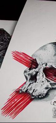ворон на черепе тату (значение) – пример интересного рисунка тату – 031 tatufoto.com