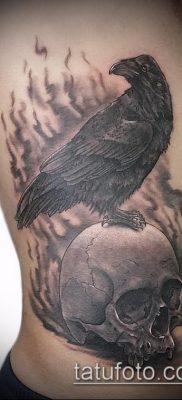 ворон на черепе тату (значение) – пример интересного рисунка тату – 032 tatufoto.com