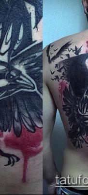 ворон на черепе тату (значение) – пример интересного рисунка тату – 038 tatufoto.com