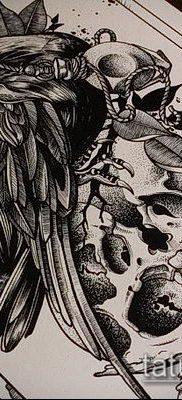 ворон на черепе тату (значение) – пример интересного рисунка тату – 041 tatufoto.com