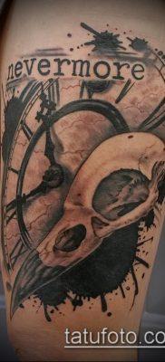ворон на черепе тату (значение) – пример интересного рисунка тату – 042 tatufoto.com