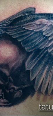 ворон на черепе тату (значение) – пример интересного рисунка тату – 043 tatufoto.com