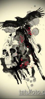 ворон на черепе тату (значение) – пример интересного рисунка тату – 044 tatufoto.com
