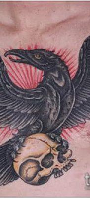 ворон на черепе тату (значение) – пример интересного рисунка тату – 046 tatufoto.com