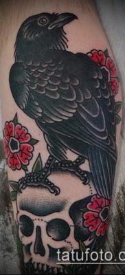 ворон на черепе тату (значение) – пример интересного рисунка тату – 048 tatufoto.com