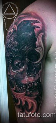 ворон на черепе тату (значение) – пример интересного рисунка тату – 054 tatufoto.com