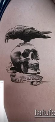 ворон на черепе тату (значение) – пример интересного рисунка тату – 057 tatufoto.com