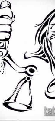 тату весы (зодиак) (значение) – пример интересного рисунка тату – 002 tatufoto.com