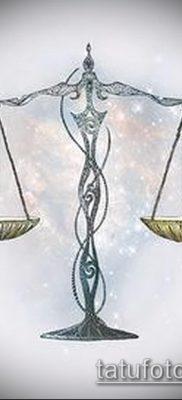 тату весы (зодиак) (значение) – пример интересного рисунка тату – 004 tatufoto.com