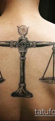 тату весы (зодиак) (значение) – пример интересного рисунка тату – 009 tatufoto.com