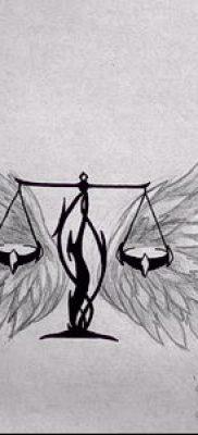 тату весы (зодиак) (значение) – пример интересного рисунка тату – 024 tatufoto.com