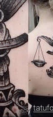 тату весы (зодиак) (значение) – пример интересного рисунка тату – 025 tatufoto.com