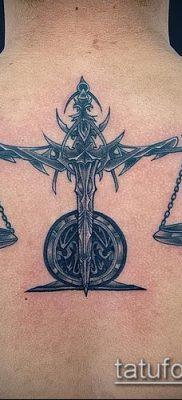 тату весы (зодиак) (значение) – пример интересного рисунка тату – 032 tatufoto.com