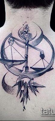 тату весы (зодиак) (значение) – пример интересного рисунка тату – 038 tatufoto.com