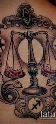 тату весы (зодиак) (значение) – пример интересного рисунка тату – 040 tatufoto.com