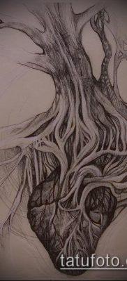 тату дерево с корнями (значение) – пример интересного рисунка тату – 002 tatufoto.com