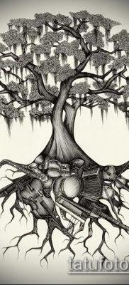 тату дерево с корнями (значение) – пример интересного рисунка тату – 020 tatufoto.com