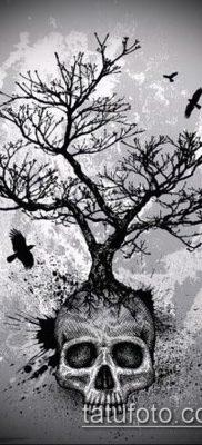 тату дерево с корнями (значение) – пример интересного рисунка тату – 026 tatufoto.com