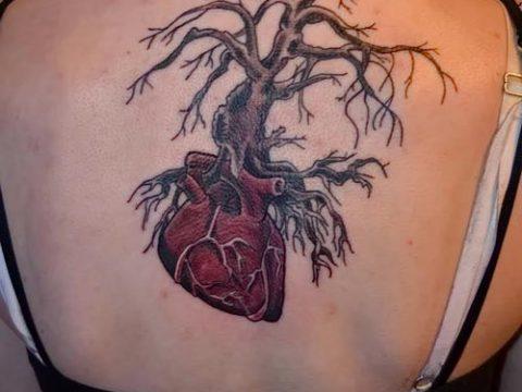 тату дерево с корнями (значение) - пример интересного рисунка тату - 035 tatufoto.com