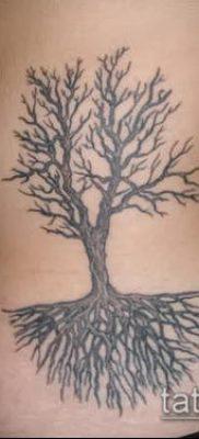 пример татуировки с деревом и корнями – фото