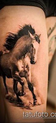 тату конь фото (значение) – пример интересного рисунка тату – 004 tatufoto.com