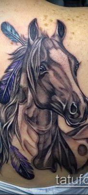 тату конь фото (значение) – пример интересного рисунка тату – 005 tatufoto.com