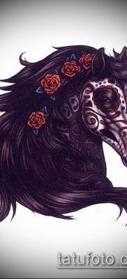 тату конь фото (значение) – пример интересного рисунка тату – 006 tatufoto.com