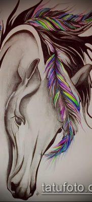 тату конь фото (значение) – пример интересного рисунка тату – 015 tatufoto.com