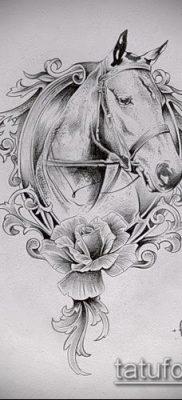 тату конь фото (значение) – пример интересного рисунка тату – 021 tatufoto.com