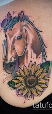 тату конь фото (значение) – пример интересного рисунка тату – 036 tatufoto.com