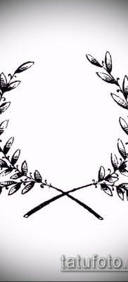 тату лавровый венок (значение) – пример интересного рисунка тату – 016 tatufoto.com
