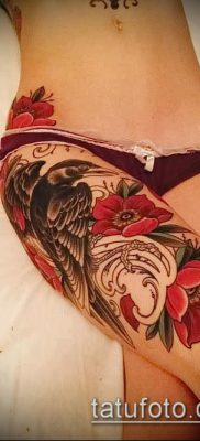 тату на бедре женские (значение) – пример интересного рисунка тату – 001 tatufoto.com