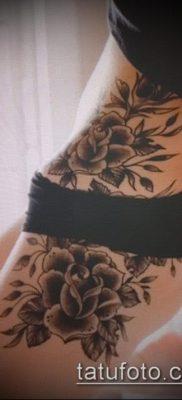 тату на бедре женские (значение) – пример интересного рисунка тату – 002 tatufoto.com