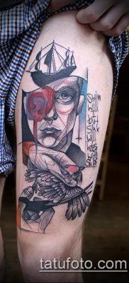 тату на бедре мужские (значение) – пример интересного рисунка тату – 001 tatufoto.com