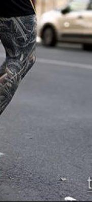 тату на бедре мужские (значение) – пример интересного рисунка тату – 002 tatufoto.com