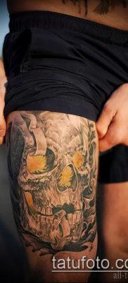 тату на бедре мужские (значение) – пример интересного рисунка тату – 008 tatufoto.com