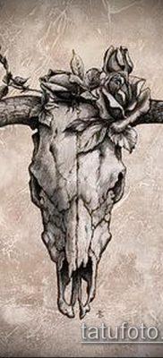 тату череп быка фото (значение) — пример интересного рисунка тату — 007 tatufoto.com