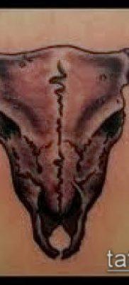 тату череп быка фото (значение) – пример интересного рисунка тату – 009 tatufoto.com