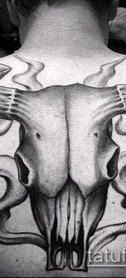 тату череп быка фото (значение) — пример интересного рисунка тату — 031 tatufoto.com