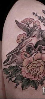 тату череп быка фото (значение) – пример интересного рисунка тату – 034 tatufoto.com