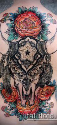 тату череп быка фото (значение) — пример интересного рисунка тату — 035 tatufoto.com