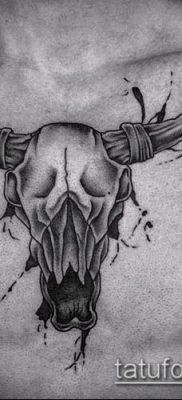 тату череп быка фото (значение) — пример интересного рисунка тату — 043 tatufoto.com