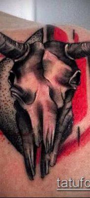 тату череп быка фото (значение) — пример интересного рисунка тату — 044 tatufoto.com