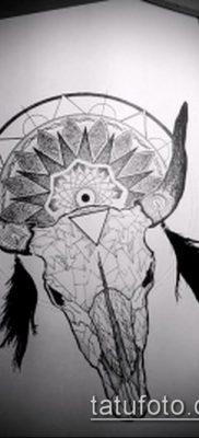 тату череп быка фото (значение) – пример интересного рисунка тату – 048 tatufoto.com