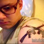 фото военных тату №666 - уникальный вариант рисунка, который легко можно использовать для преобразования и нанесения как военные тату скорпион