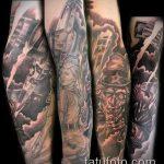 фото военных тату №569 - классный вариант рисунка, который удачно можно использовать для переделки и нанесения как военное тату на плече