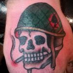 фото военных тату №481 - интересный вариант рисунка, который хорошо можно использовать для преобразования и нанесения как военное тату на плече